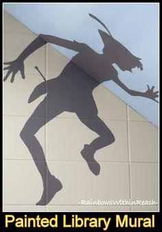 peter pan bulletin board | Peter Pan Mural from Public Library