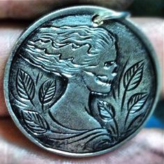 MATHEW HAGERMANN HOBO COIN - SKULL CARVING ON UNKNOWN HOST COIN