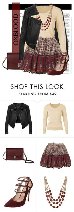 """""""Fall Color Trend: Oxblood"""" by boho-at-heart ❤ liked on Polyvore featuring Linea Pelle, The Cambridge Satchel Company, Topshop, Maiden Lane and Lucky Brand"""
