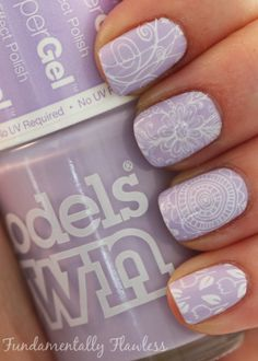 Fundamentally Flawless: Models Own HyperGel Lilac Sheen with MoYou XL Stamping Plate 14