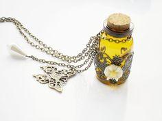 Glass Apothecarys Bottle necklace