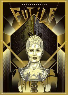 Borg Queen / METROPOLIS-inspired poster. Love it.