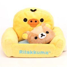 Rilakkuma Yellow Chick Kiiroitori Armchair Plush Cellphone Holder / Plush Holder $17.54 http://thingsfromjapan.net/rilakkuma-yellow-chick-kiiroitori-armchair-plush-cellphone-holder-plush-holder/ #rilakkuma accessory #san x product #kawaii accessory