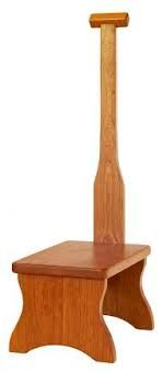 Elegant Wooden Step Stool with Handle