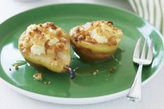 Honey-baked pears with ricotta main image