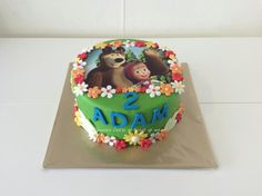 Masha and the bear cake by Sharona's Cakes