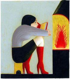 Intimacy reader / Intimidad lectora (ilustración de Lorenzo Mattotti)
