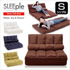 SLEEple/スリープル3way/スリーウェイシングル高反発三つ折れボリュームリクライニングソファベッドクッション付き【送料無料】