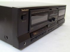 Double Cassette Deck Dual Technics RS-T9023 HX PRO Stereo Auto Reverse Record #Technics
