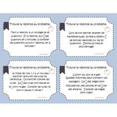 Cartes à tâches: Problèmes sur les fractions Math 8, Math Fractions, 4th Grade Math, Fun Math, Math Games, Teaching Math, Teaching Resources, Numeracy Activities, Literacy And Numeracy