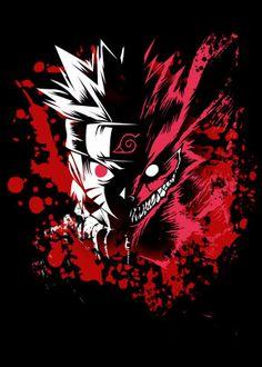 """Beautiful """"Naruto Kyuubi"""" metal poster created by Ehab Shehadeh. Naruto Uzumaki, Anime Naruto, Naruto Shippudden, Otaku Anime, Boruto, Gaara, Itachi, Naruto Wallpaper, Wallpaper Naruto Shippuden"""