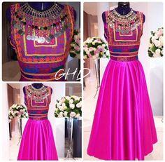 #pink #afghan #dress