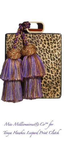 Tonya Hawkes Leopard Print Box Clutch - Exclusively @ Miss Millionairess's Boutique