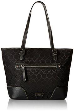 Nine West 9s Jacquard Tote Bag, Black/Black, One Size Nine West http://www.amazon.com/dp/B00VJEZWKY/ref=cm_sw_r_pi_dp_ulacwb1VGM9TT