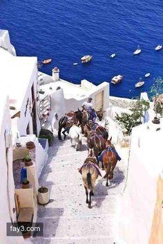 جزيرة سانتوريني #اليونان صوره رقم 1