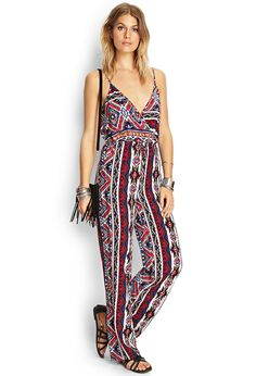 Southwestern Print Surplice Jumpsuit from Forever 21 Fashion Wear, Fashion 2017, Fashion Outfits, Printed Jumpsuit, Overall, Summer Wardrobe, New Outfits, Spring Summer Fashion, Latest Trends
