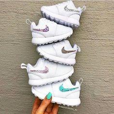 DIY baby girl glitter Nikes
