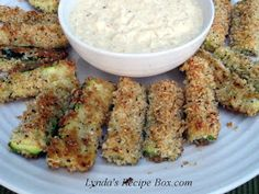 Lynda's Recipe Box: Baked Zucchini Wedges and Sweet Onion Dip
