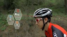 Smart helmet houdt je hartslag en verbranding bij.