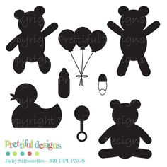 25% Off Everything Sale Baby Silhouette Clip by PrettifulDesigns