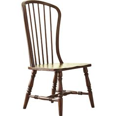 Awash in a warm mahogany finish, this side chair brings rustic style to your dining room or breakfast nook.   Product: Chair