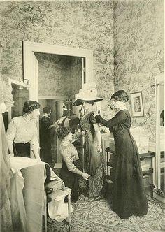 Dress fitting 1910