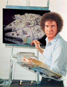 Bob Ross/Star Wars - painting some happy spaceships with happy little blasters. hehe this is funny Star Wars Nave Star Wars, Star Wars Art, Star Trek, Star Wars Puns, Star Wars Humor, Starwars, Bob Ross, Foto Fails, Will Ferell