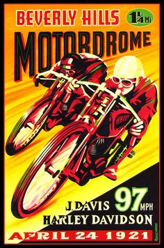 Cool vintage motorcycle poster