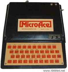 MICROACE  MicroAce  	    A few months after Sinclair released its ZX-80, Microace of Santa Ana, California launched a clone of this computer.    It was exactly the same machine, but a minor modification made that it could be expanded to 2 KB of RAM.  The internal ROM was also a pure copy of the Sinclair's original. Sinclair thus sued Microace but met with large difficulties because the judge couldn't seee the ROM content!