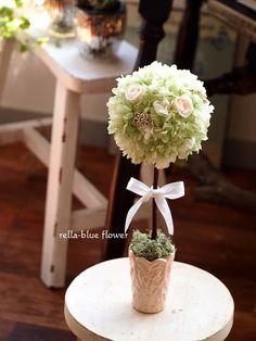 爽やかグリーンのトピアリー☆|静岡市フラワーアレンジメンント教室&ブーケサロン レラブルー rella-blue flower