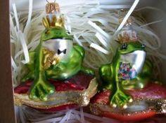 Żaby- Para - Irys - Szklane kwiaty. Artystyczne wyroby ze szkła