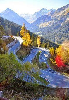 Maloja pass-St.Moritz-Suiça