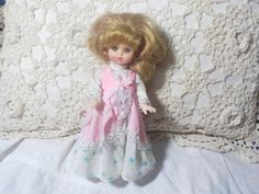 Vintage Small Doll, Quality Doll in Pink Pretty Dress, Vintage Doll, Vintage Toys, Toys,  :)Siof