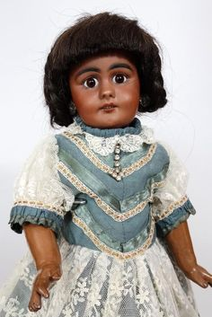 Rare Antique German Bisque Head Doll Simon & Halbig SH 759 from tantelinas-dolls on Ruby Lane
