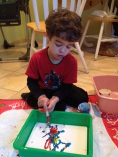 Child Life Activity- Syringe Painting- Child Life Mommy