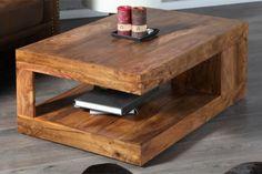 Couchtisch Beistelltisch BALI Palisander massiv Die aus Massivholzplatten verleimten Couch/Beistelltische sind mit ihrer schönsten Holzmaserung des Sheesham ein Blickfang in jedem gehobenem Interieur.