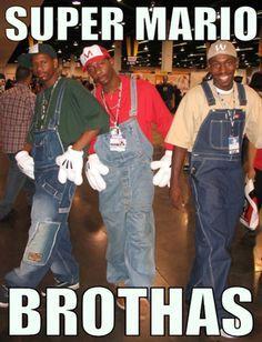 Halloween Ideas - Super mario brothas - funny ghetto pictures, funny pictures, ratchet pictures