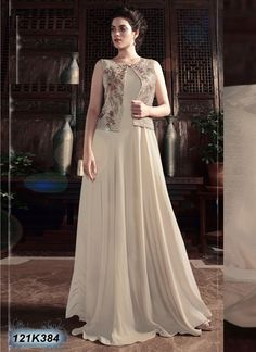 You searched for Superb Party Wear Embroidered Gown Long Gown Dress, Frock Dress, Long Dresses, Indian Designer Outfits, Designer Gowns, Designer Kurtis, Gown Pattern, Dress Patterns, Indian Gowns Dresses