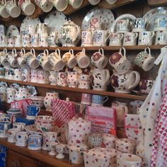 Emma Bridgewater Display at R Gwynedd Evans & Son Pwllheli Emma Bridgewater Pottery, My Emma, Welsh Dresser, Love You Dad, World Of Color, Bobs, Evans, Stuff To Do, Polka Dots