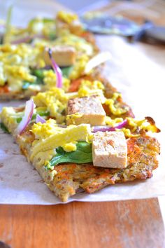 Цветная капуста Пицца Корки (v + гс) и Тофу-Baby Corn Pizza