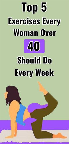 Top 5 Exercises Every Woman Over 40 Should Do Every Week lifestyle lifestyle fitness lifestyle healthy habits lifestyle ideas lifestyle tips Health And Fitness Tips, Health And Wellness, Women's Health, Holistic Wellness, Fitness Top, Daily Health Tips, Health Facts, Dental Health, Wellness Tips
