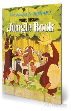 The Jungle Book - Jumpin' Wood Sign Houten bord bij AllPosters.nl