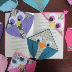 Bird Corner Bookmarks - sold on Etsy by HenstinaHandmade