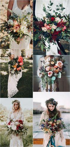 boho wedding bouquets #weddingtheme #bohoweddings #weddingdecor #weddingideas #weddingbouquets