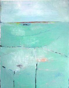 "Saatchi Art Artist Brooke Wandall; Painting, ""Mint Green Large Abstract Landscape"" #art"