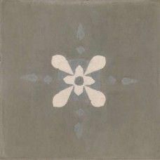 Moroccan Encaustic Cement Pattern Grey Tile gr01