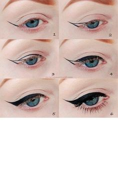 Cómo hacer un 'cat eye' --> http://www.cosmopolitantv.es/noticias/2243/como-hacer-un-cat-eye