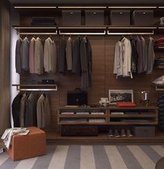 Master closet, walk in closet, pant hangers, dressing rooms, wardrobe ideas Shop House Plans, Shop Plans, Master Closet, Walk In Closet, Lofts, Armoire, Display Shelves, Room Shelves, Pant Hangers
