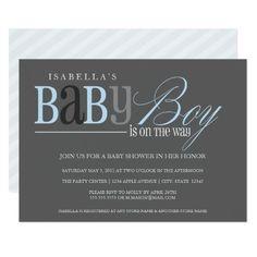 Baby Boy | Charcoal Card