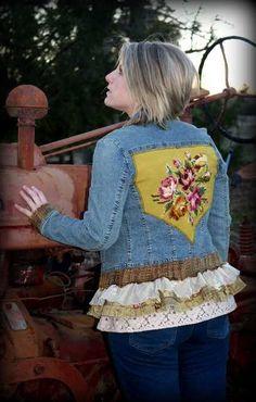 Upcycled Denim Jacket by Reneescraze on Etsy, $85.00